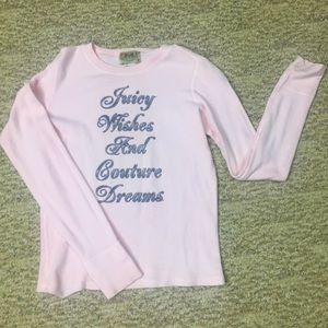 Juicy Couture Designer long sleeve sz. M pink